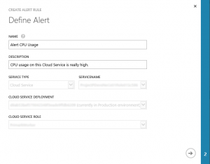 Azure Alert Define Rule