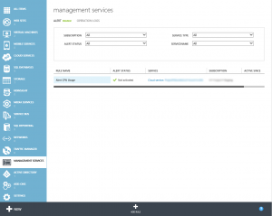 Azure Management Services View Alerts