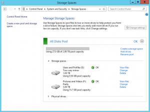Storage Space Online Normal