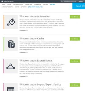 Azure Portal Preview Features