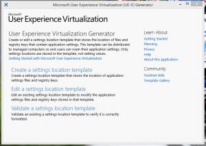 UE-V XML Generator