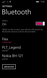 FitBit Flex Bluetooth Paired