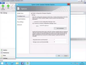 SCUP Configure SCCM Server