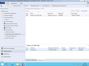 Task Sequence Deployment ID