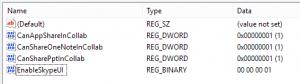 EnableSkypeUI Registry