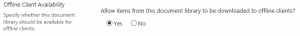 SharePoint Online Disable Offline Sync